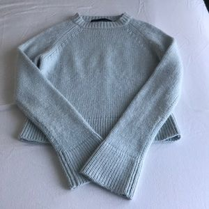 Powder blue, cropped sweater
